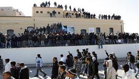 Un'immagine del CIE di Lampedusa