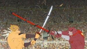 Kumatetsu affronta Iozen per il titolo di Gran Maestro.