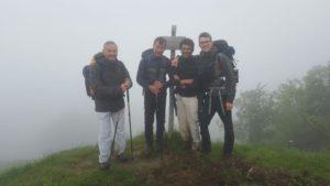 Marco, Nevio e Sandro con Marco Clarici