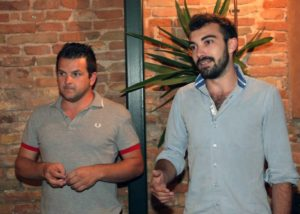 Andrea Liverani (a sinistra) consigliere regionale Lega Nord e Jacopo Berti (a destra)
