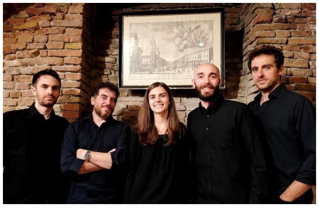 Da sinistra: Cosimo Roselli, Leonardo Rivola, Cristina Vespignani, Francesco Chiari e Alberto Giovannini